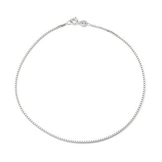 Gioelli Sterling Silver Box Chain Anklet