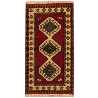Herat Oriental Turkish Hand-knotted Tribal Kazak Wool Rug (2'7 x 4'7)