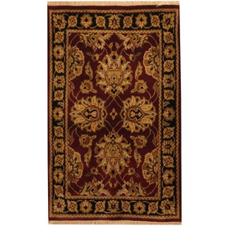 Herat Oriental Indo Hand-knotted Khorasan Wool Rug (2'6 x 4')