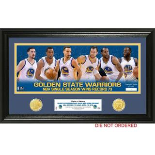 Golden State Warriors 73 Win Record 'Team Force' Pano Photo Mint