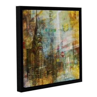 Joost Hogervorst 'City Collage - New York 4' Gallery Wrapped Floater-framed Canvas - Multi