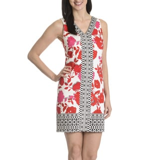 London Times Women's Tahitian Print Dress