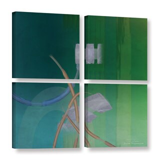 Joost Hogervorst 'Abstract 03 II' 4-piece Gallery Wrapped Canvas Square Set