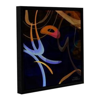Joost Hogervorst 'Abstract Twirl 03' Gallery Wrapped Floater-framed Canvas