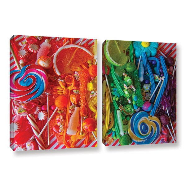 Alison Lee 'Sweets 6' 2-piece Gallery Wrapped Canvas Set