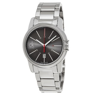 Calvin Klein Men's K0A21561 'Select' Grey Dial Stainless Steel Swiss Quartz Watch