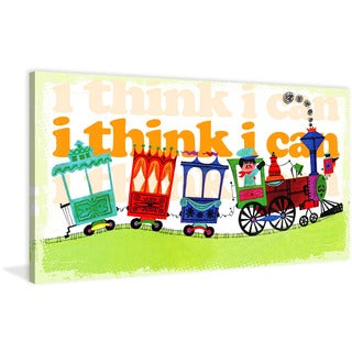 Marmont Hill 'I Think I Can' by Curtis Painting Print on Canvas - Multi-color