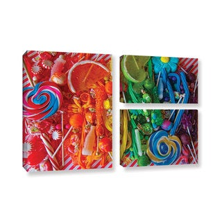 Alison Lee 'Sweets 6' 3-piece Gallery Wrapped Canvas Flag Set