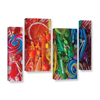Alison Lee 'Sweets 6' 4-piece Gallery Wrapped Canvas Staggered Set