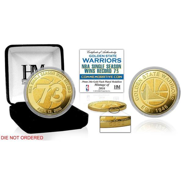 Golden State Warriors 73 Win Record Gold Mint Coin