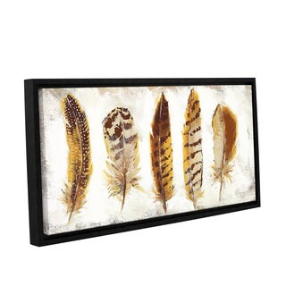 Art Marketing Ltd 'Feathers' Gallery Wrapped Floater-framed Canvas