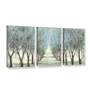 Art Marketing Ltd 'The Olive Grove' 3-piece Gallery Wrapped Canvas Set