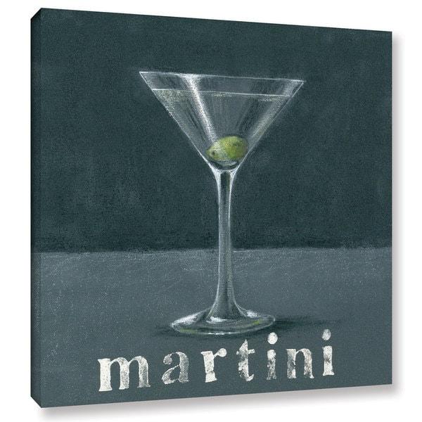 Art Marketing Ltd 'Martini' Gallery Wrapped Canvas