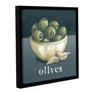 Art Marketing Ltd 'Olives' Gallery Wrapped Floater-framed Canvas