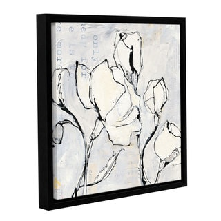 Kellie Day 'Again II' Gallery Wrapped Floater-framed Canvas