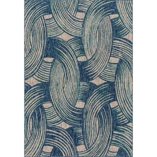 Indoor/ Outdoor Hudson Blue/ Teal Rug (2'2 x 3'9)