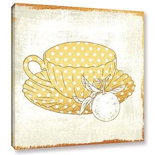 Cleonique Hilsaca 'Earl Grey Tea' Gallery Wrapped Canvas