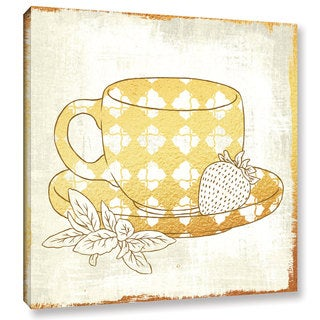 Cleonique Hilsaca 'Strawberry Green Tea' Gallery Wrapped Canvas