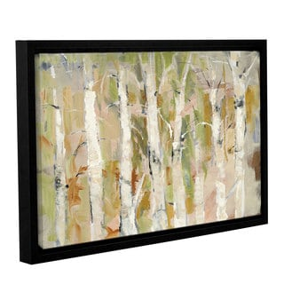 Dusty Knight 'White Forest I v2' Gallery Wrapped Floater-framed Canvas