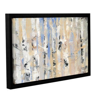 Dusty Knight 'White Forest II' Gallery Wrapped Floater-framed Canvas