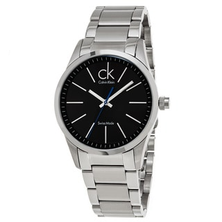 Calvin Klein Men's K2241102 'Bold' Black Dial Stainless Steel Swiss Quartz Watch