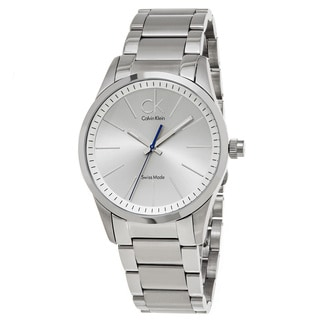 Calvin Klein Men's K2241120 'Bold' Silver Dial Stainless Steel Swiss Quartz Watch
