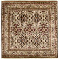 Hand-knotted Isfahan Collection Wool Area Rug - 8' Square