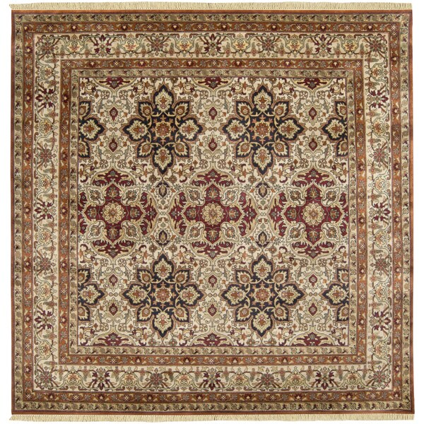 Hand-knotted Isfahan Collection Wool Area Rug (8' Sq)