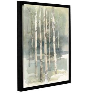 Avery Tillmon 'Birch grove I' Gallery Wrapped Floater-framed Canvas