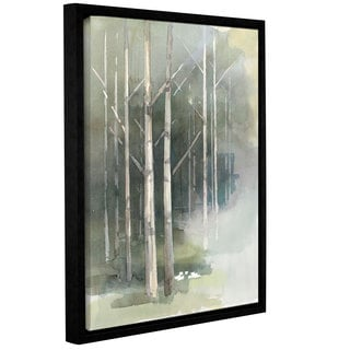 Avery Tillmon 'Birch grove II' Gallery Wrapped Floater-framed Canvas