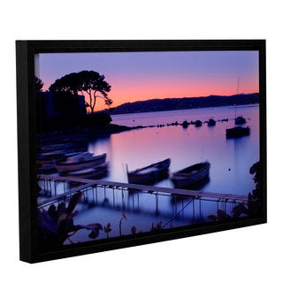 Simon Kayne 'Sunset' Gallery Wrapped Floater-framed Canvas