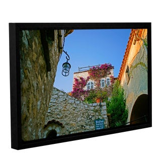 Simon Kayne 'The Flower House' Gallery Wrapped Floater-framed Canvas