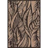 Indoor/ Outdoor Hudson Charcoal/ Sand Rug - 2'2 x 3'9