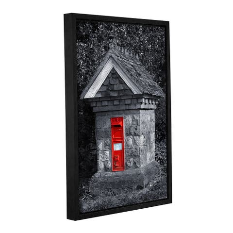 Simon Kayne 'Red Post Box' Gallery Wrapped Floater-framed Canvas - Multi