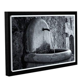 Simon Kayne 'St. Paul De Vence Fountain' Gallery Wrapped Floater-framed Canvas
