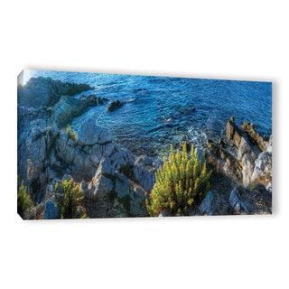 Simon Kayne 'Beach Cliffs' Gallery Wrapped Canvas