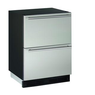 U-Line 1000 Series 1224 - 24 Inch Stainless Steel Refrigerator Drawers