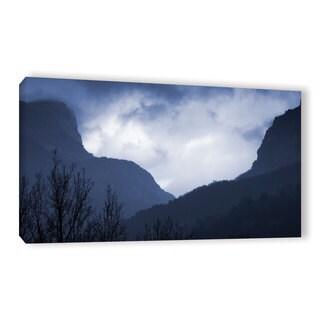 Simon Kayne 'Misty Mountains' Gallery Wrapped Canvas