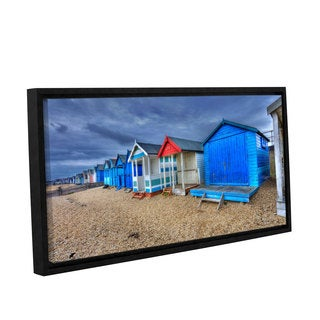 Simon Kayne 'Beach Front Property' Gallery Wrapped Floater-framed Canvas