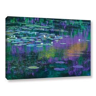 Simon Kayne 'Lilly Pads' Gallery Wrapped Canvas