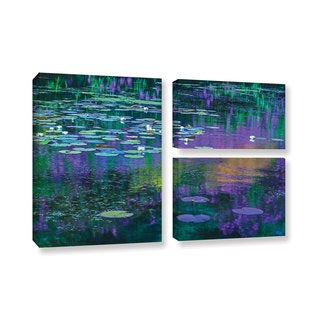 Simon Kayne 'Lilly Pads' 3-piece Gallery Wrapped Canvas Flag Set