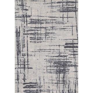 Microfiber Woven Stark Modern Abstract Rug (9'3 X 13'0)