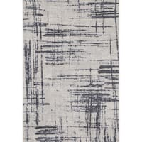 Microfiber Woven Grey Modern Abstract Rug - 9'3 x 13'