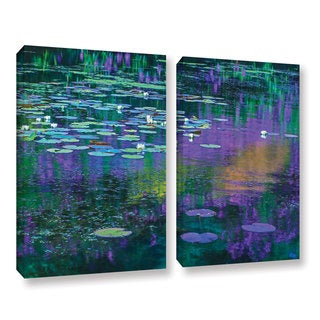 Simon Kayne 'Lilly Pads' 2-piece Gallery Wrapped Canvas Set