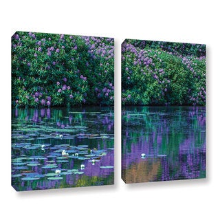 Simon Kayne 'Lilly Pads 2' 2-piece Gallery Wrapped Canvas Set