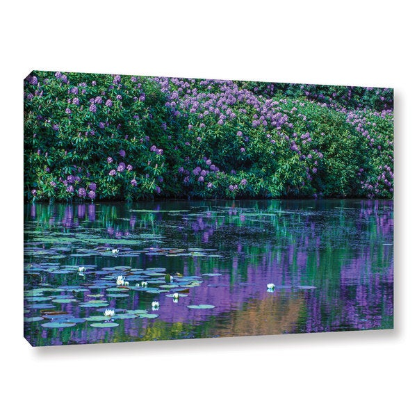 Simon Kayne 'Lilly Pads 2' Gallery Wrapped Canvas