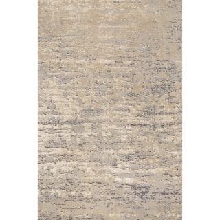 Microfiber Woven Stark Stone Rug (5'0 X 7'6)