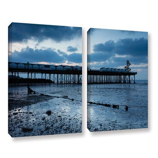 Simon Kayne 'Pier' 2-piece Gallery Wrapped Canvas Set