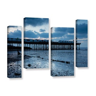 Simon Kayne 'Pier' 4-piece Gallery Wrapped Canvas Staggered Set