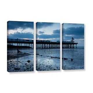 Simon Kayne 'Pier' 3-piece Gallery Wrapped Canvas Set